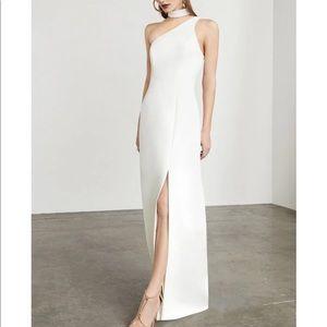 ⚪️☑️BCBG Modern White evening gown